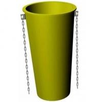 прямое звено (секция) с цепями мусороспуска пласто (пластиковый строительный мусоросброс - рукав для сброса строительного мусора)